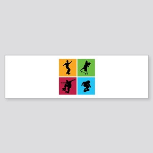 Nice various skating Sticker (Bumper)