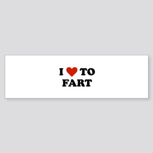 I Love To Fart Sticker (Bumper)