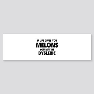 If Life Gives You Melons Sticker (Bumper)