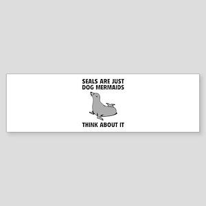 Dog Mermaids Sticker (Bumper)