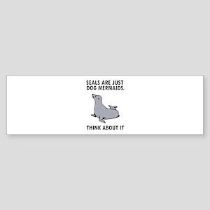 Seals are just dog mermaids. Sticker (Bumper)