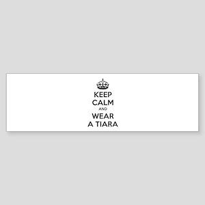 Keep calm and wear a tiara Sticker (Bumper)
