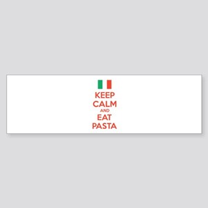 Keep Calm And Eat Pasta Sticker (Bumper)