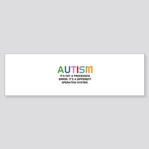 Autism Operating System Sticker (Bumper)