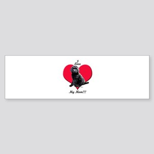 I Love My Mom!!! Black Goldendoodle Bumper Sticker