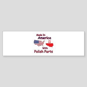 America With Polish Parts Bumper Sticker