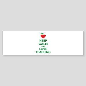 Keep calm and love teaching Sticker (Bumper)