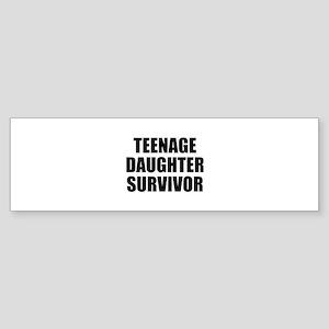 Teenage Daughter Survivor Sticker (Bumper)