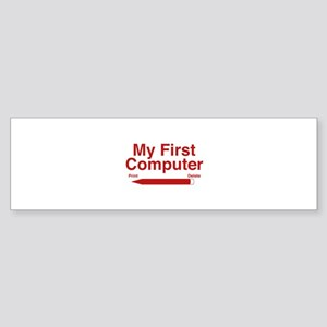 My First Computer Sticker (Bumper)