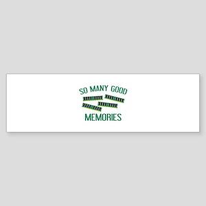 So Many Good Memories Sticker (Bumper)