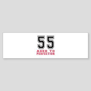55 Aged To Perfection Birthday De Sticker (Bumper)
