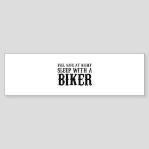 Sleep With A Biker And Ride All Night Sticker (Bum