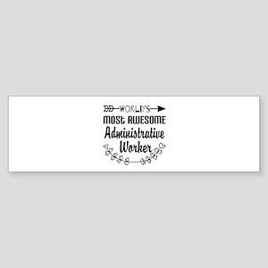 World's Most Awesome Administrati Sticker (Bumper)