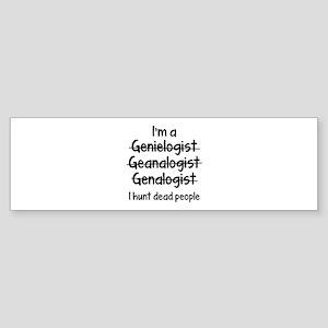 I Hunt Dead People Sticker (Bumper)