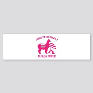 Alpaca Towel Sticker (Bumper)