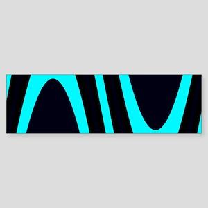 Wavy Davey Turquoise Black Anthony' Bumper Sticker