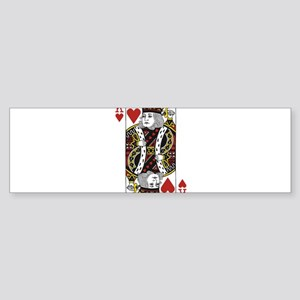 King of Hearts Sticker (Bumper)