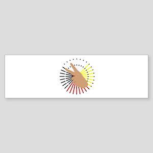 Native Hand Sign Bumper Sticker