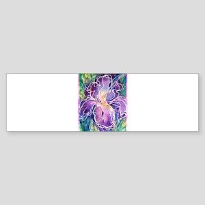 Iris! Beautiful, purple flower, Bumper Sticker
