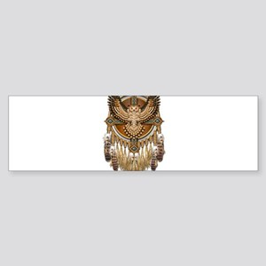 Native American Owl Mandala Bumper Sticker