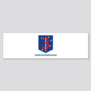 3d Marine Special Operations Bn with Text Sticker