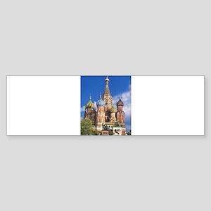 Saint Basil's Cathedral Russian Ort Bumper Sticker