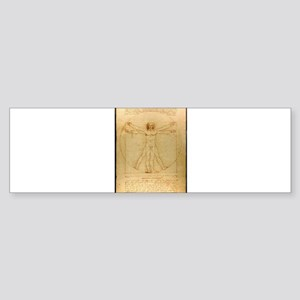 Leonardo Da Vinci Vitruvian Man Bumper Sticker