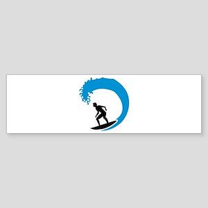 Surfer wave Sticker (Bumper)
