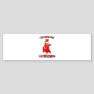 i brake for cardiologists Red Ora Sticker (Bumper)
