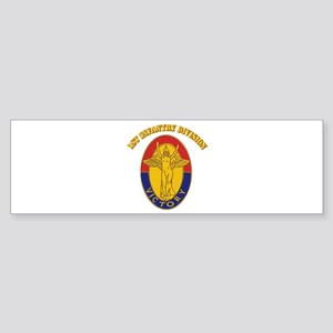 DUI - 1st Infantry Division with Text Sticker (Bum