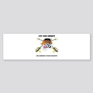 DUI - 1st Squadron - 3rd ACR WITH TEXT Sticker (Bu