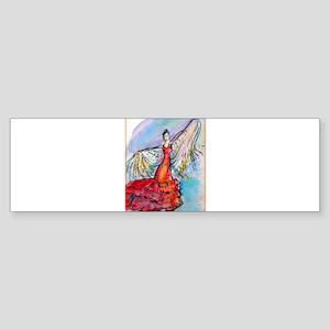 Falmenco dancer, bright Sticker (Bumper)