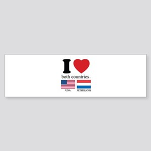 USA-NETHERLANDS Sticker (Bumper)