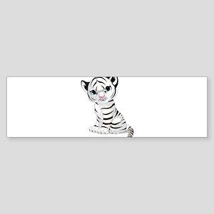 Baby White Tiger Bumper Sticker