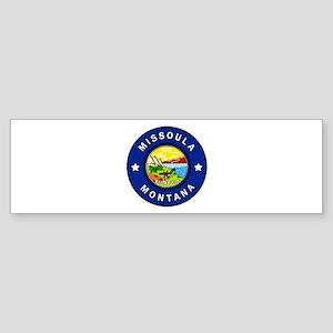 Missoula Montana Bumper Sticker