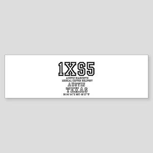 TEXAS - AIRPORT CODES - 1XS5 - AUST Bumper Sticker