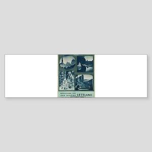 Vintage poster - Lettland Bumper Sticker