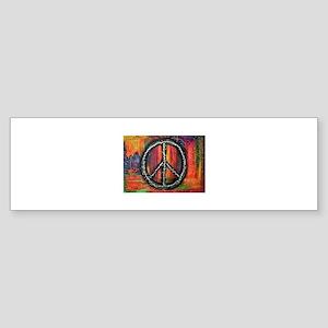 Rustic peace Bumper Sticker