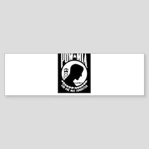 POW MIA Flag Bumper Sticker