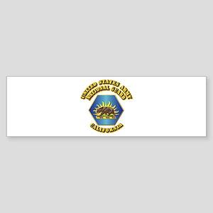 Army National Guard - California Sticker (Bumper)