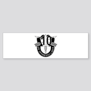 10th Special Forces - DUI - No Tx Sticker (Bumper)