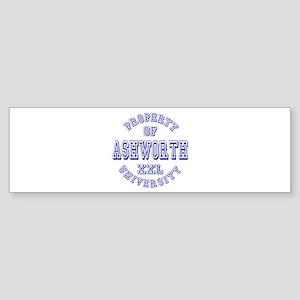 Property of Ashworth University XXL Sticker (Bumpe