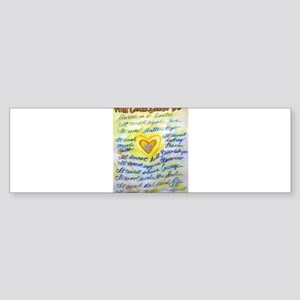 Blue & Gold Heart Cancer Sticker (Bumper)