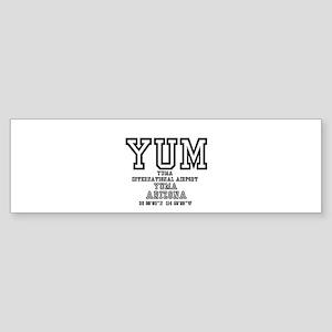 AIRPORT CODES - YUM - YUMA, ARIZONA Bumper Sticker