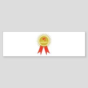 #1 Graduate Bumper Sticker