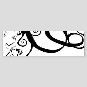 Black/White Mermaid Sticker (Bumper)