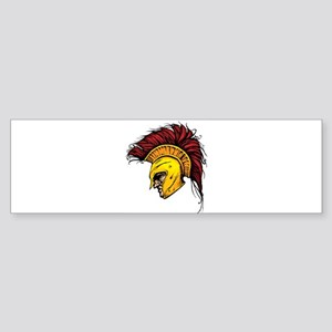 Color Spartan Bumper Sticker
