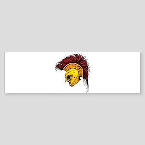 Color Spartan Bumper Sticker