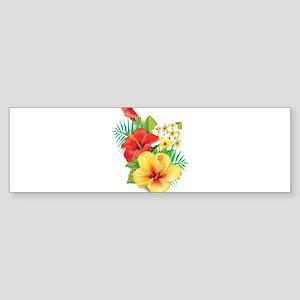 Tropical Hibiscus Bumper Sticker
