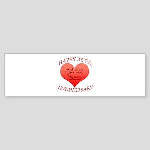 Happy 35th. Anniversary Bumper Sticker
